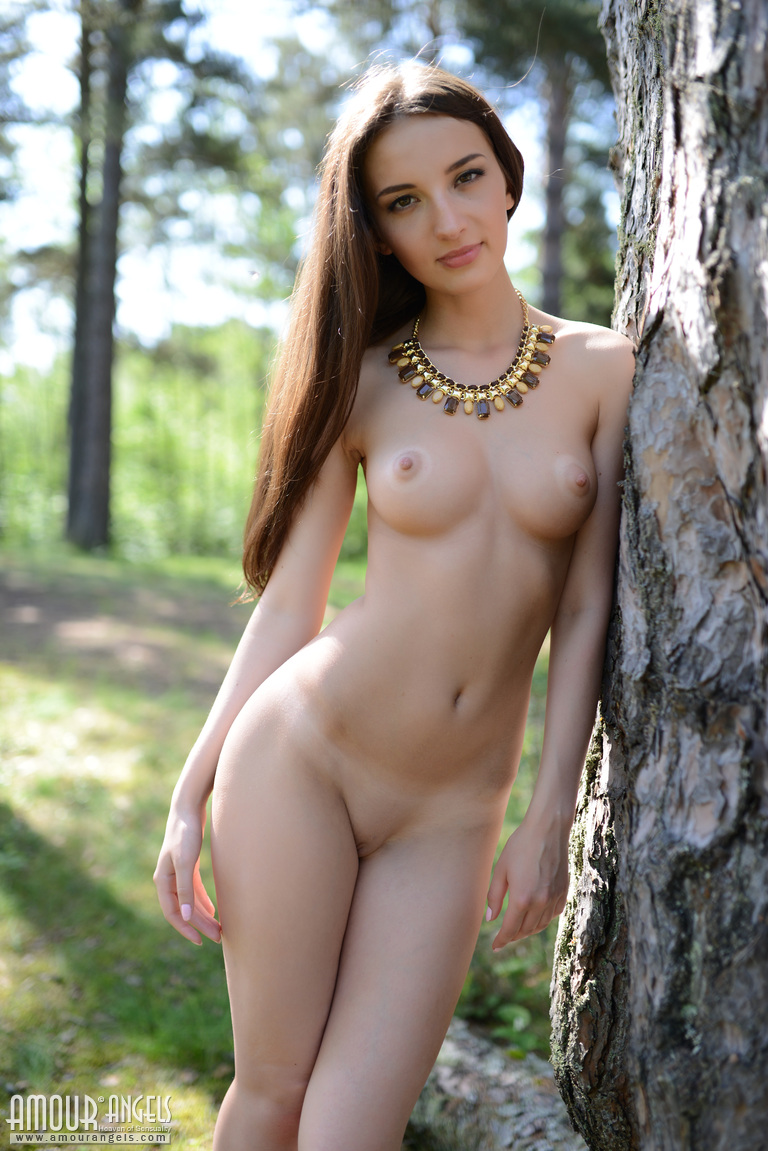 Nudist standing beauty girl apologise, but