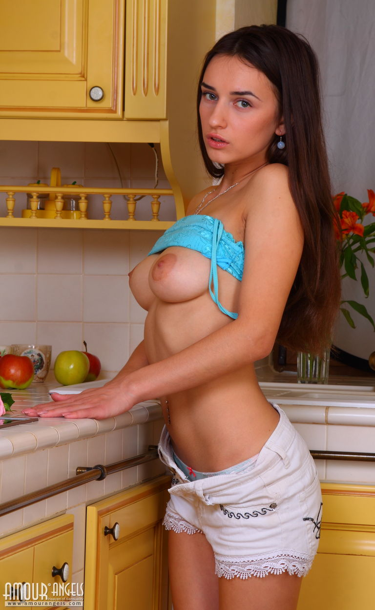 Apologise, sexy brunette kitchen sex amusing