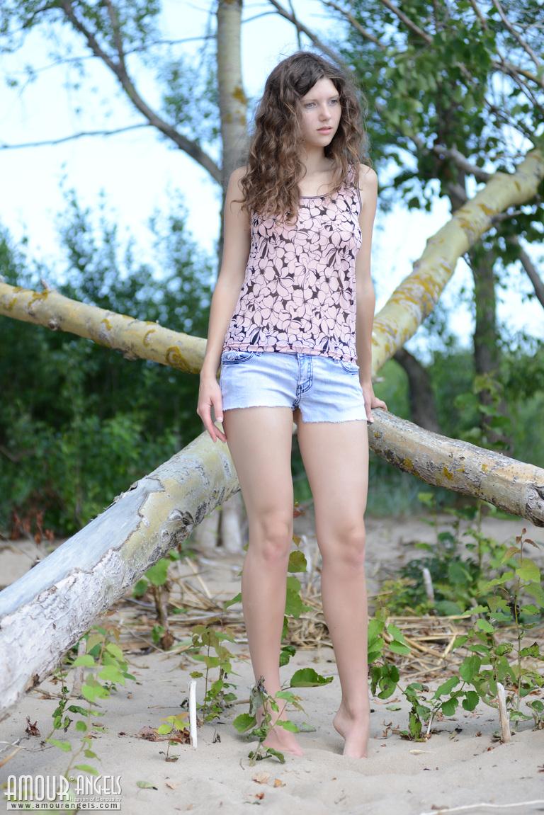 Gorgeous teen girl strip really