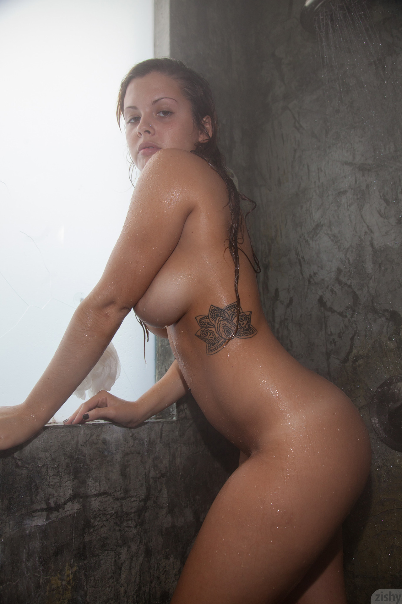 young girls naked with soap